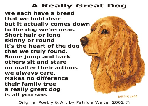 A Really Great dog poetry & Art by Patricia Walter